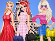 Disney Princesses Eiffel Tower Visiting