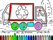 Garbage Trucks Coloring