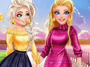 Barbie And Elsa Autumn Patterns