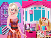 Elsa Suite Shopping For Barbie Doll