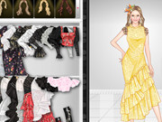 Ruffled Chiffon Dresses
