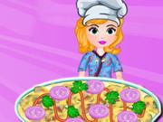 Sofia Cooking Onion Pizza