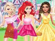 Princesses Different Shoulder Dress