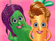 Vegetables At Hair Salon