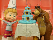 Masha And The Bear Make Birthday Cake
