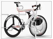White Bike Unic Design