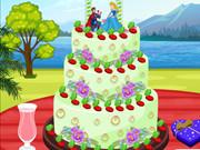 Princess Summer Wedding Cake