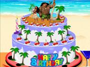 Moana Birthday Cake Decor
