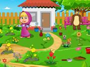 Masha And Bear Garden Decoration