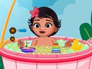 Baby Princess Moana Shower Bath