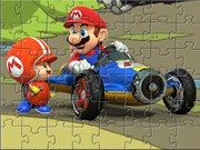 Mario And Toad Car Puzzle