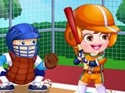 Baby Hazel Baseball Player Dressup