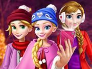 Princess Christmas Selfie Mall Shopping