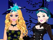 Elsa And Snow White Halloween Dress Up