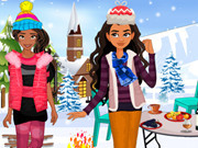 Elena And Moana Outdoor Winter Party