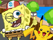 Spongebob Play Pokemon Go