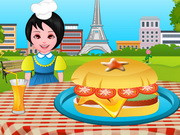 Cooking French Burgers