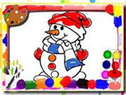 Happy Snowman Coloring