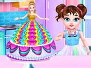 Baby Taylor Barbie Princess Cake Cooking