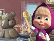 Masha And The Bear Cleaning Game