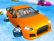 Crazy Car Water Surfing Race