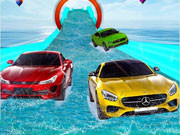Water Slide Car Race 3D