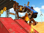 Monster Truck Impossible Track Plane Simulator