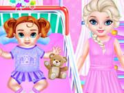 Little Elsa Caring Day