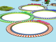 Lowpolly Train Racing Game
