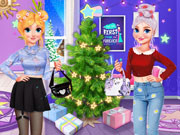 Neon Vs E Girl Xmas Tree Deco