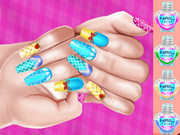 Elsa Princess Theme Nail Art Diy