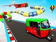 Tuk Tuk Speed Up Mega Ramp Stunt