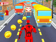 Subway Run Superhero Robot