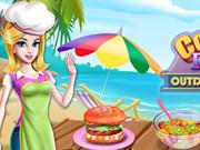 Cooking Foods In Outdoor Kitchen